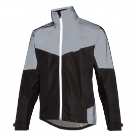 Stellar Reflective men's waterproof jacket, black / silver X-large
