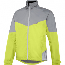 Stellar Reflective men's waterproof jacket, hi-viz yellow / silver large