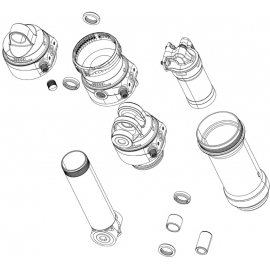 ROCKSHOX REAR SHOCK EYELET BUSHING (1/2 X 1/2) (2 PCS):