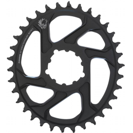 SRAM CHAIN RING X-SYNC 2 OVALDIRECT MOUNT 6MM OFFSET ALUM EAGLE BLACK:34T