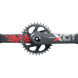 SRAM Crankset X01 Eagle Boost 148 DUB 12s 175 w Direct Mount 32T X-SYNC 2 Chainring Lunar Oxy (DUB Cups/Bearings not included) C2
